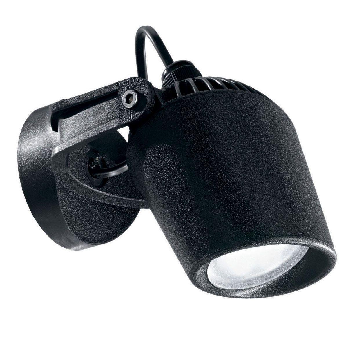 Уличный настенный светодиодный светильник Ideal Lux Minitommy AP1 Nero ideal lux уличный настенный светильник ideal lux twin ap1 nero