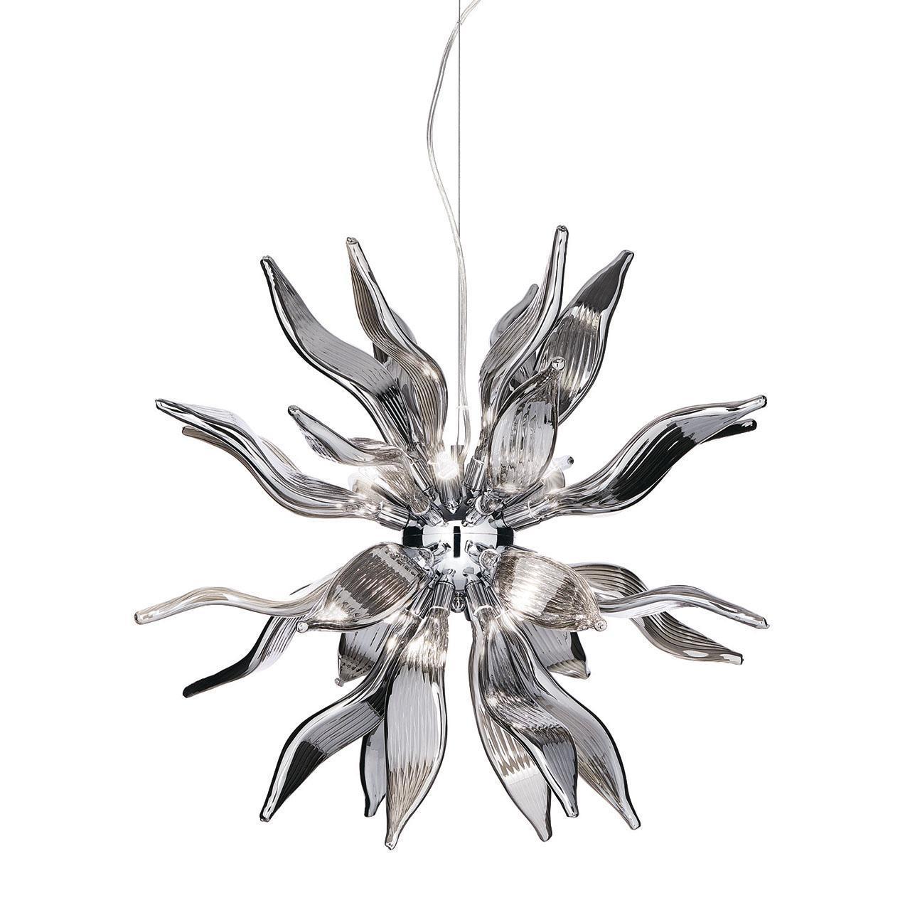Подвесной светильник Ideal Lux Leaves SP8 Fume ideal lux подвесной светильник ideal lux leaves sp8 bianco