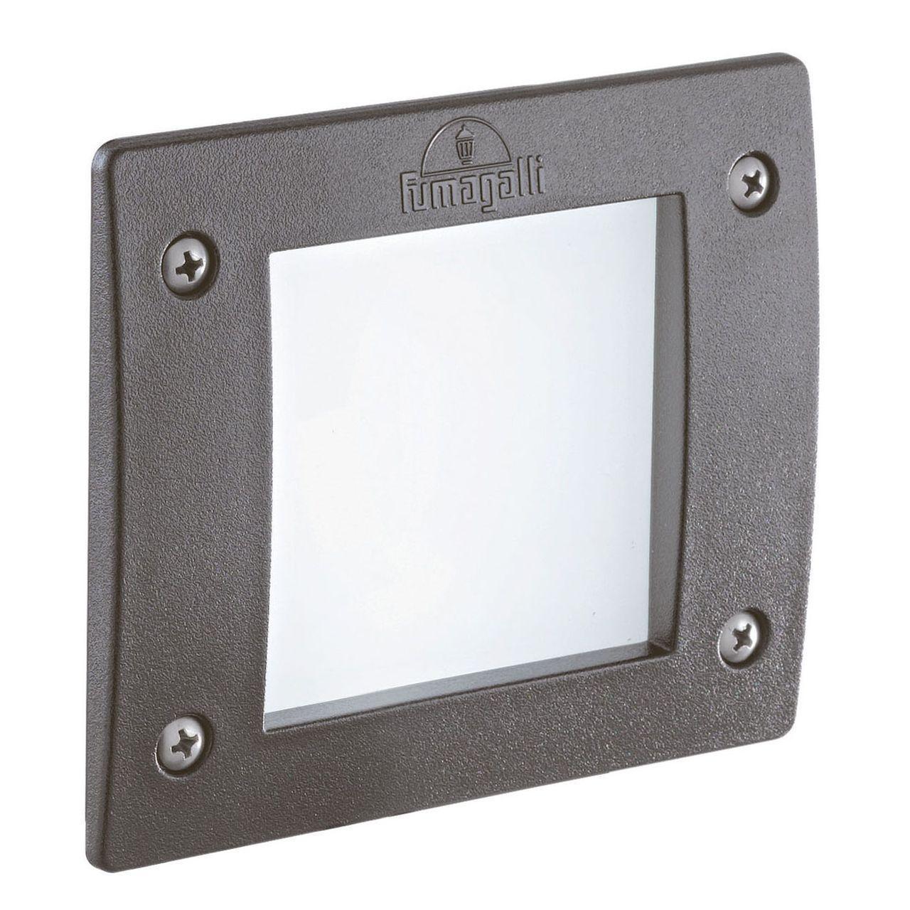 Уличный светодиодный светильник Ideal Lux Leti FI1 Square Grigio ideal lux уличный светодиодный светильник ideal lux leti round fi1 grigio
