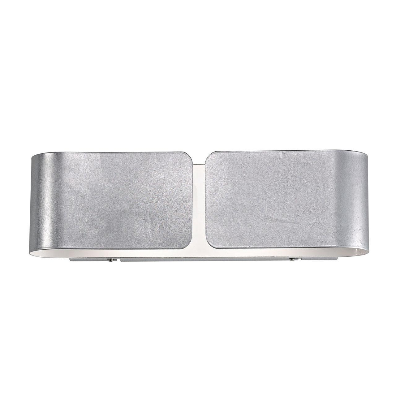 Настенный светильник Ideal Lux Clip AP2 Mini Argento настенный светильник ideal lux clip ap2 small argento