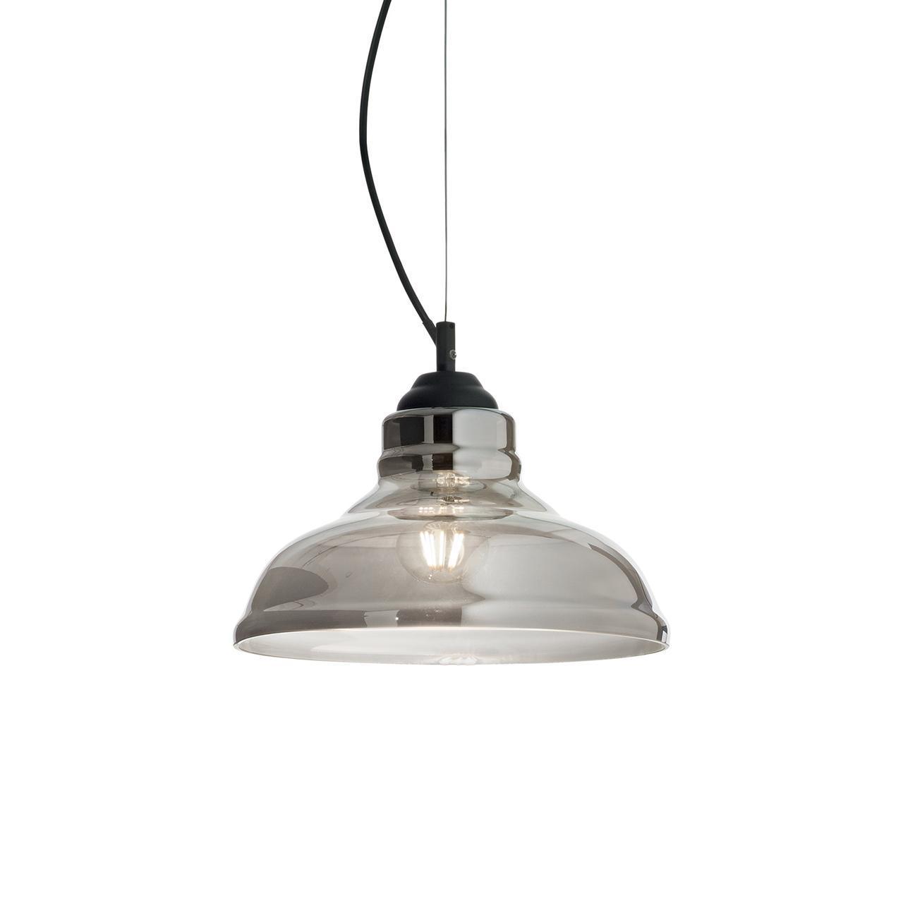 Подвесной светильник Ideal Lux Bistro SP1 PLate Fume namat подвесной светильник ideal lux cage sp1 plate