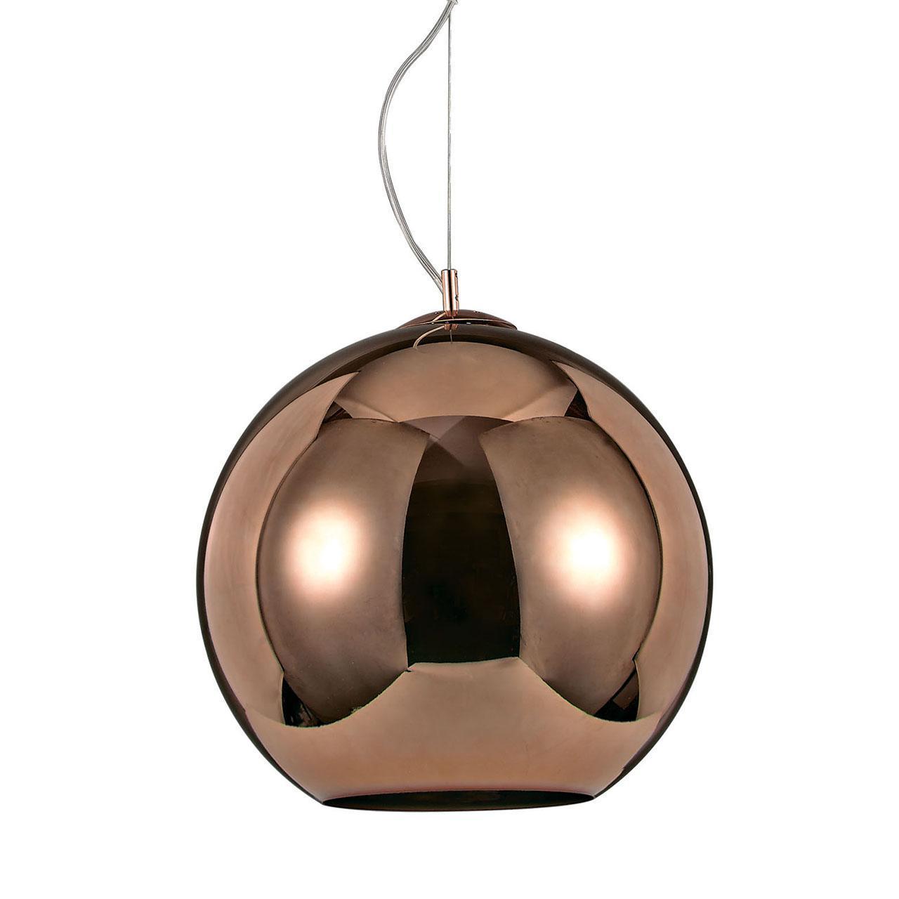 Подвесной светильник Ideal Lux Nemo SP1 D40 Rame светильник подвесной ideal lux tolomeo tolomeo sp1 d40 grigio
