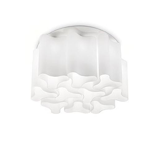 Потолочная люстра Ideal Lux Compo PL15 Bianco потолочная чаша ideal lux cup msb3 bianco 122854