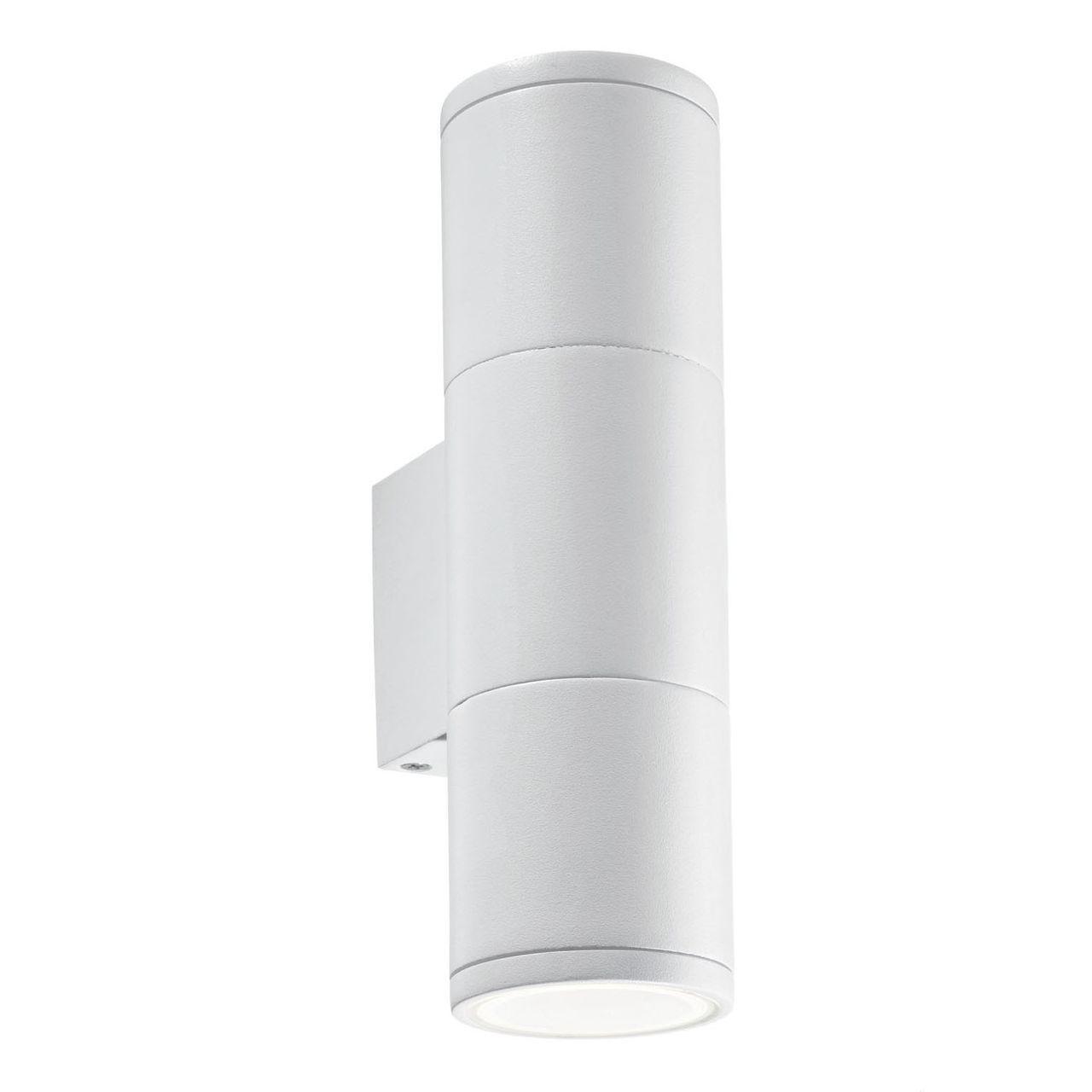 Уличный настенный светильник Ideal Lux Gun AP2 Small Bianco