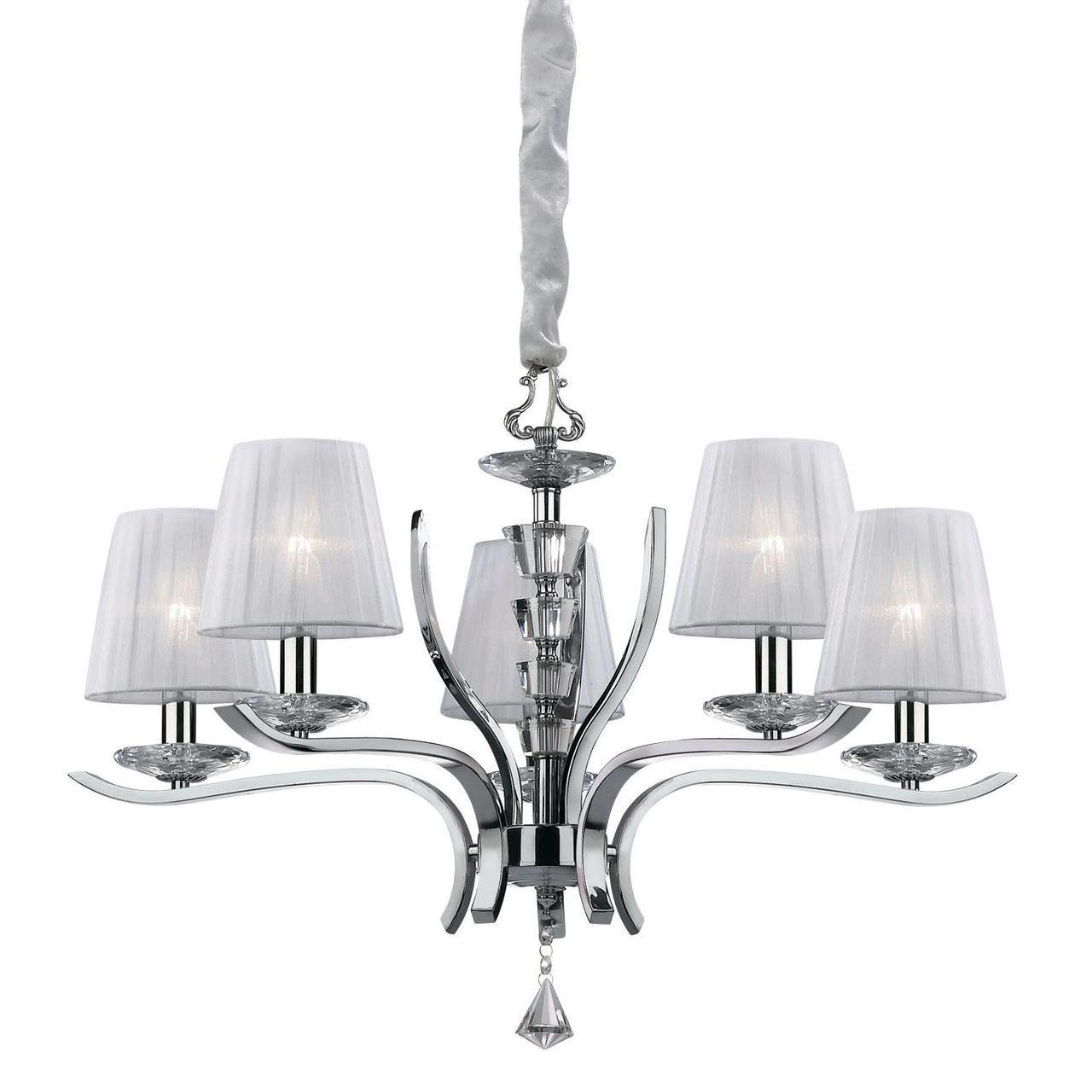 Люстра Ideal Lux Pegaso SP5 Bianco подвесная люстра ideal lux pegaso sp5 066448
