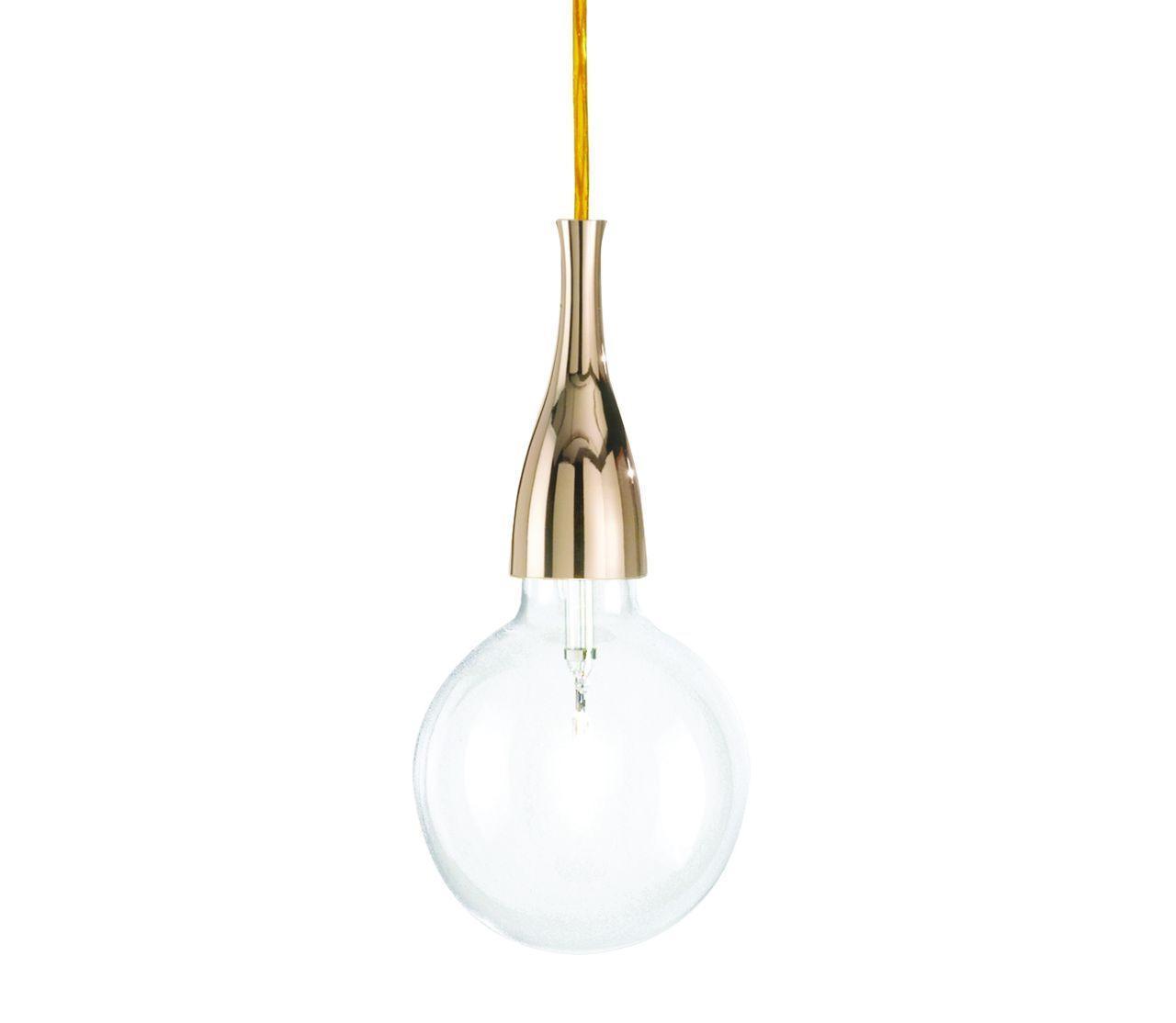 Подвесной светильник Ideal Lux Minimal SP1 Oro подвесной светильник ideal lux minimal sp1 oro