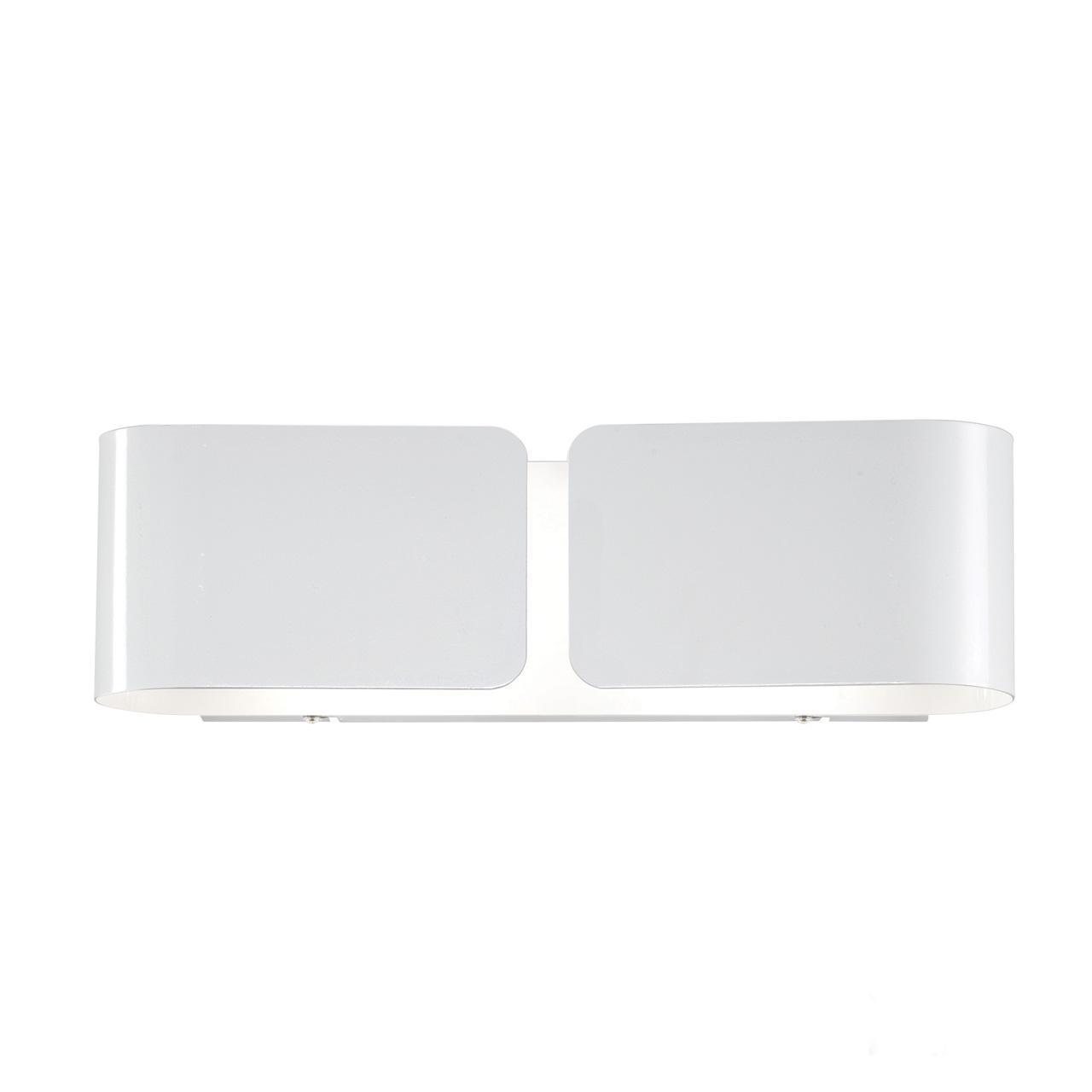 Настенный светильник Ideal Lux Clip AP2 Small Bianco