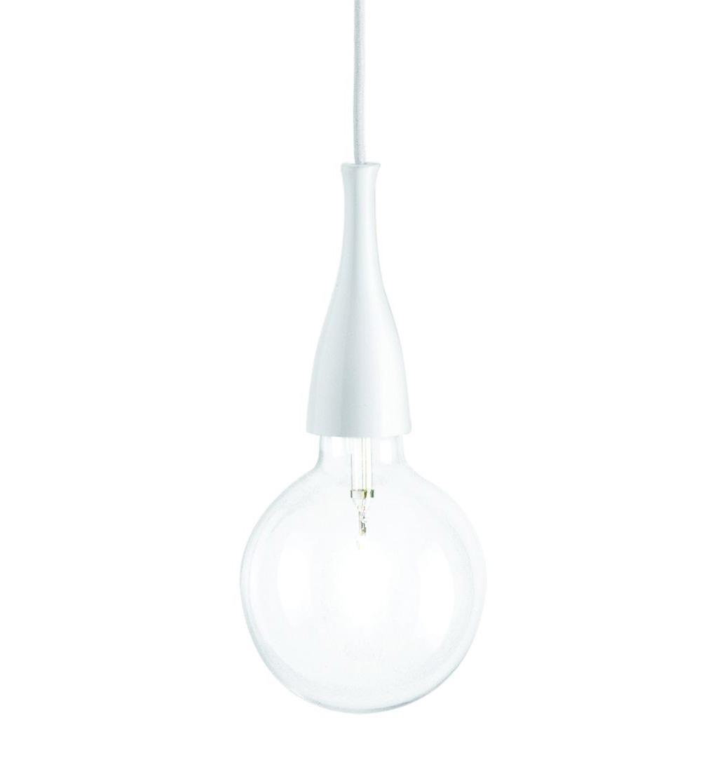 Подвесной светильник Ideal Lux Minimal SP1 Bianco ideal lux подвесной светильник ideal lux minimal sp1 bianco