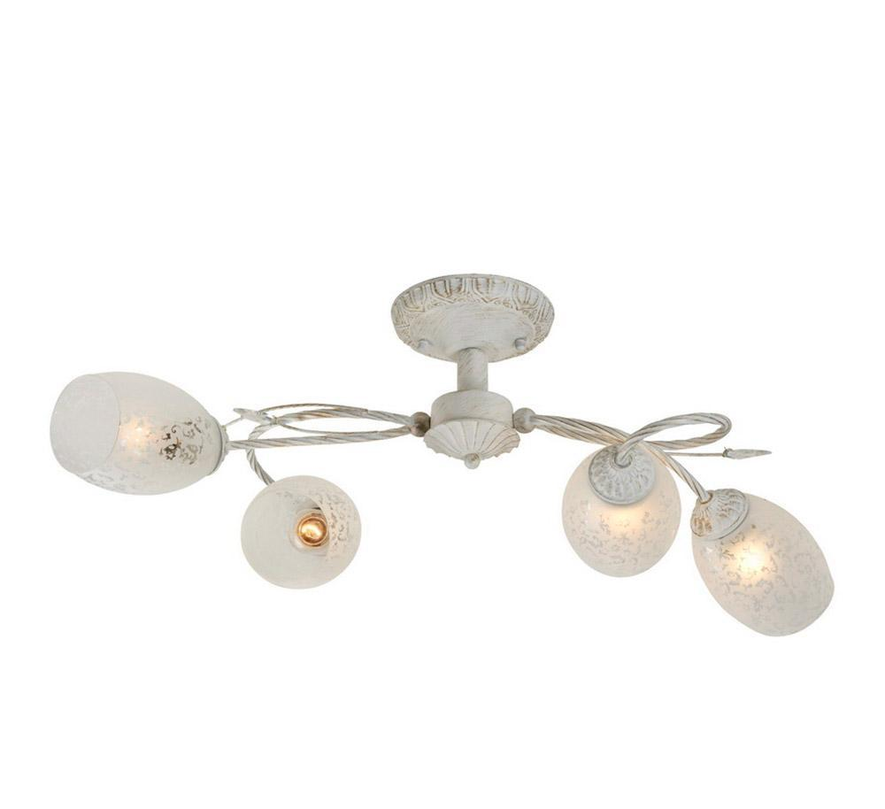 Люстра IDLamp Julia 874/4PF-Whitepatina потолочная idlamp бра idlamp julia 874 1a whitepatina