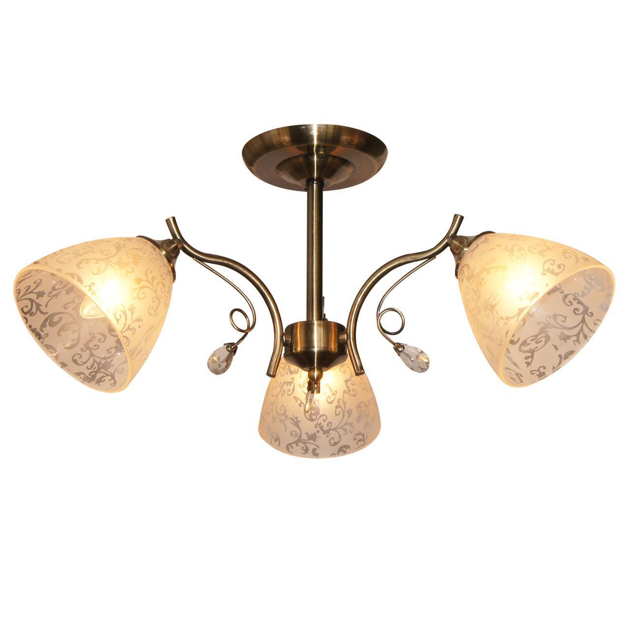 Люстра IDLamp Orebella 852/3PF-Oldbronze потолочная потолочная люстра id lamp boulder 244 3pf oldbronze