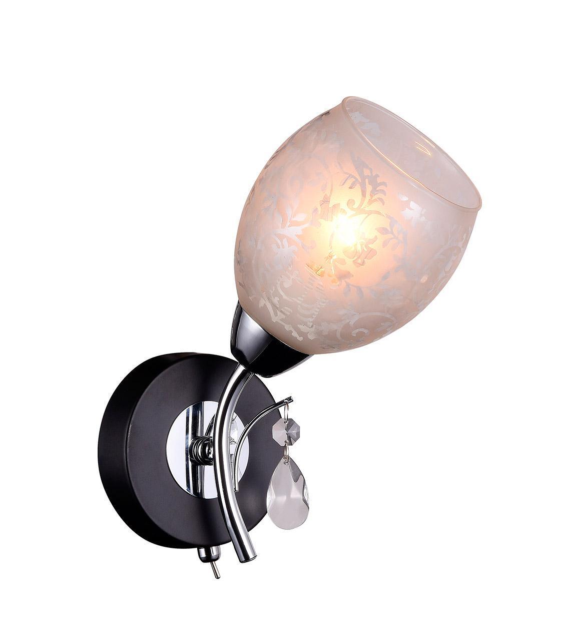 Бра IDLamp Agnes 843/1A-Blackchrome бра idlamp 843 843 1a blackchrome