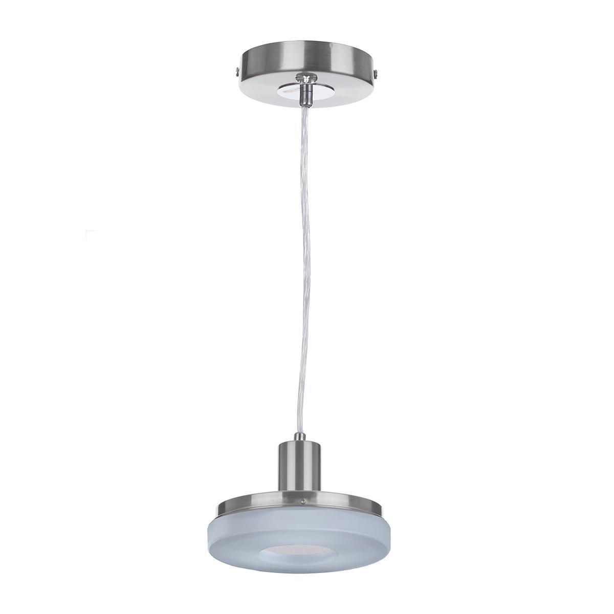 Подвесной светодиодный светильник IDLamp Frittelle 107/1-LEDWhitechrome торшер idlamp frittelle 107 1p ledwhitechrome