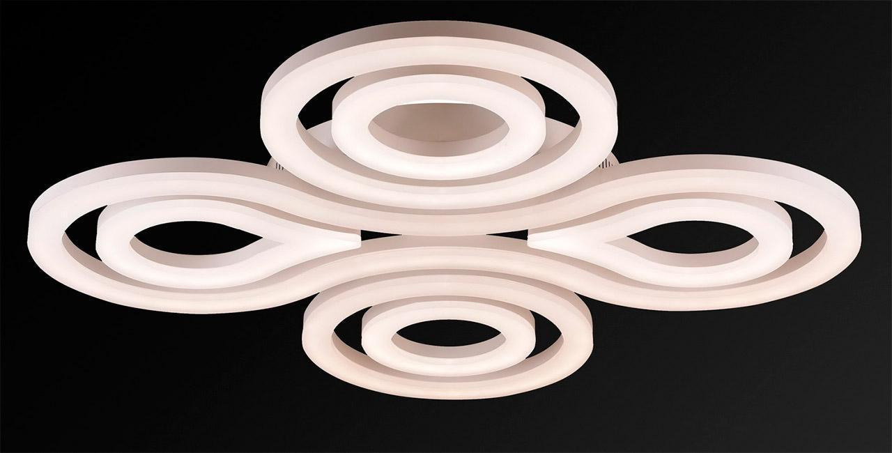 Потолочный светодиодный светильник IDLamp Concetta 396/7PF-LEDWhite потолочный светодиодный светильник idlamp concetta 396 7pf ledwhite