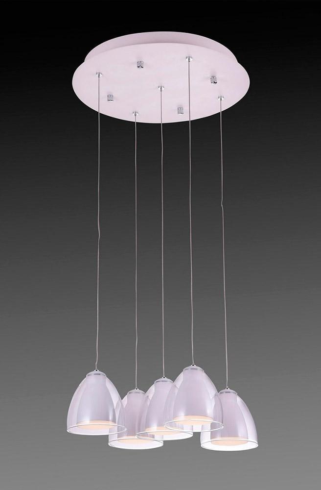 Подвесная люстра IDLamp Mirella 394/5-LEDWhite цены онлайн
