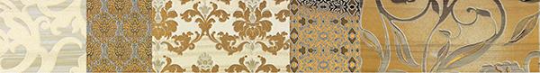 Бордюр Impronta Shine 17497 Batik Oro List.A декор impronta ceramiche square wall blu formelle glitter 12 25x25