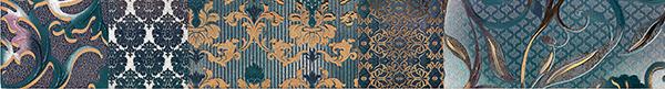 Бордюр Impronta Shine 17492 Batik Turchese List.A batik batik халат махровый розовый