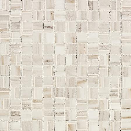 Мозаика Impronta Marmi Imperiali Mosaico White 30 декор impronta ceramiche square wall blu formelle glitter 12 25x25