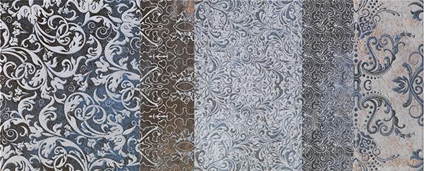 Настенная плитка Impronta Shine 18047 Turchese Batik B бордюр impronta ceramiche couture bacchetta damier platino 2x75