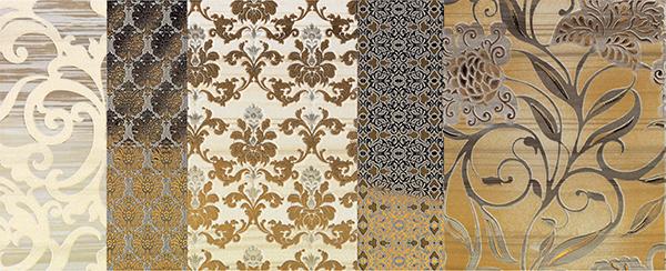 Декор Impronta Shine 17500 Batik Oro Dec.A бордюр impronta ceramiche square wall bacchetta graffio oro 2x75