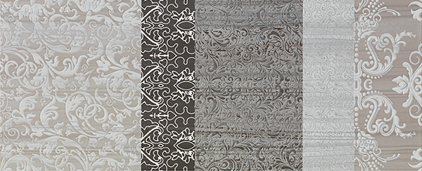 Настенная плитка Impronta Shine 17472 Tormalina Batik B бордюр impronta ceramiche couture bacchetta damier platino 2x75