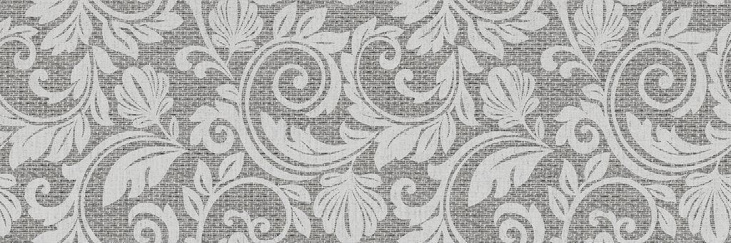 Настенная плитка ITT Ceramic Decor Passione Grey 20х60 плитка настенная 20х60 passione grey pearl светло серая