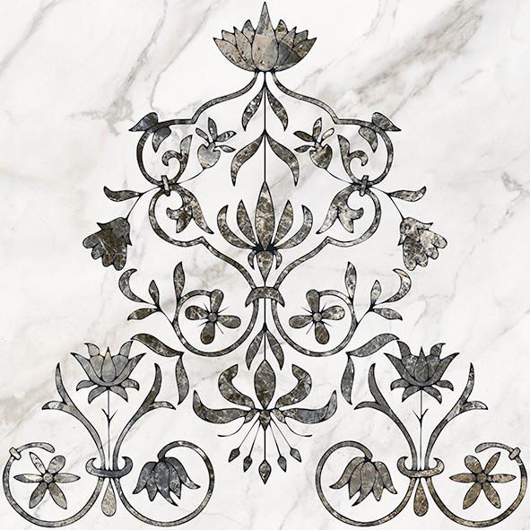 Каррара 1 Декор напольный тип 2 50х50 декор напольный 15х15 massima коричневый
