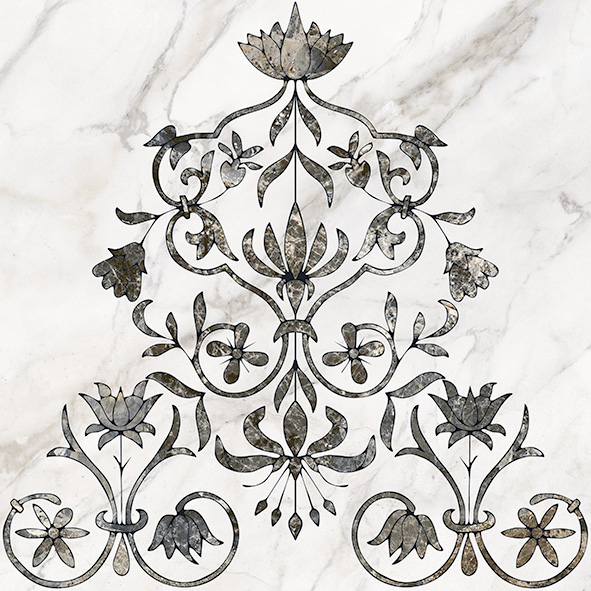 Каррара 1 Декор напольный тип 2 50х50 цена