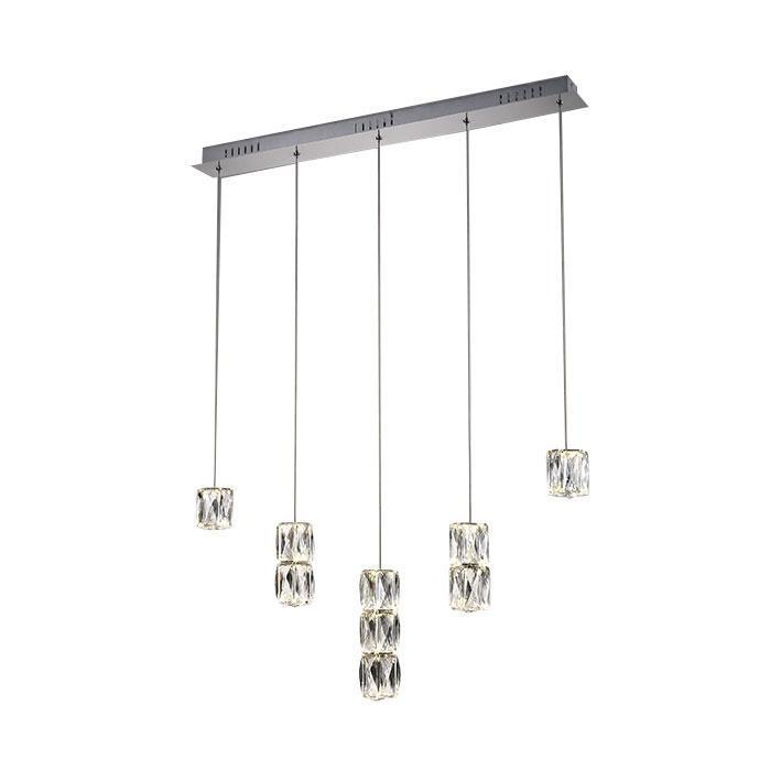 Подвесной светодиодный светильник Kink Light Аква-Кристалл 08620-5AS kink light бра kink light аква кристалл 08620