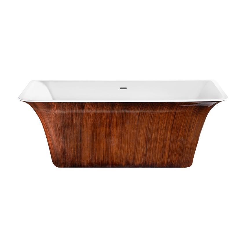 Акриловая ванна Lagard Evora Brown wood акриловая ванна belbagno 170x76x70 см свободностоящая bb25