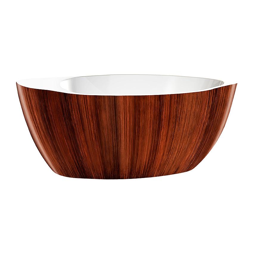 Акриловая ванна Lagard Versa Brown wood акриловая ванна belbagno 170x76x70 см свободностоящая bb25
