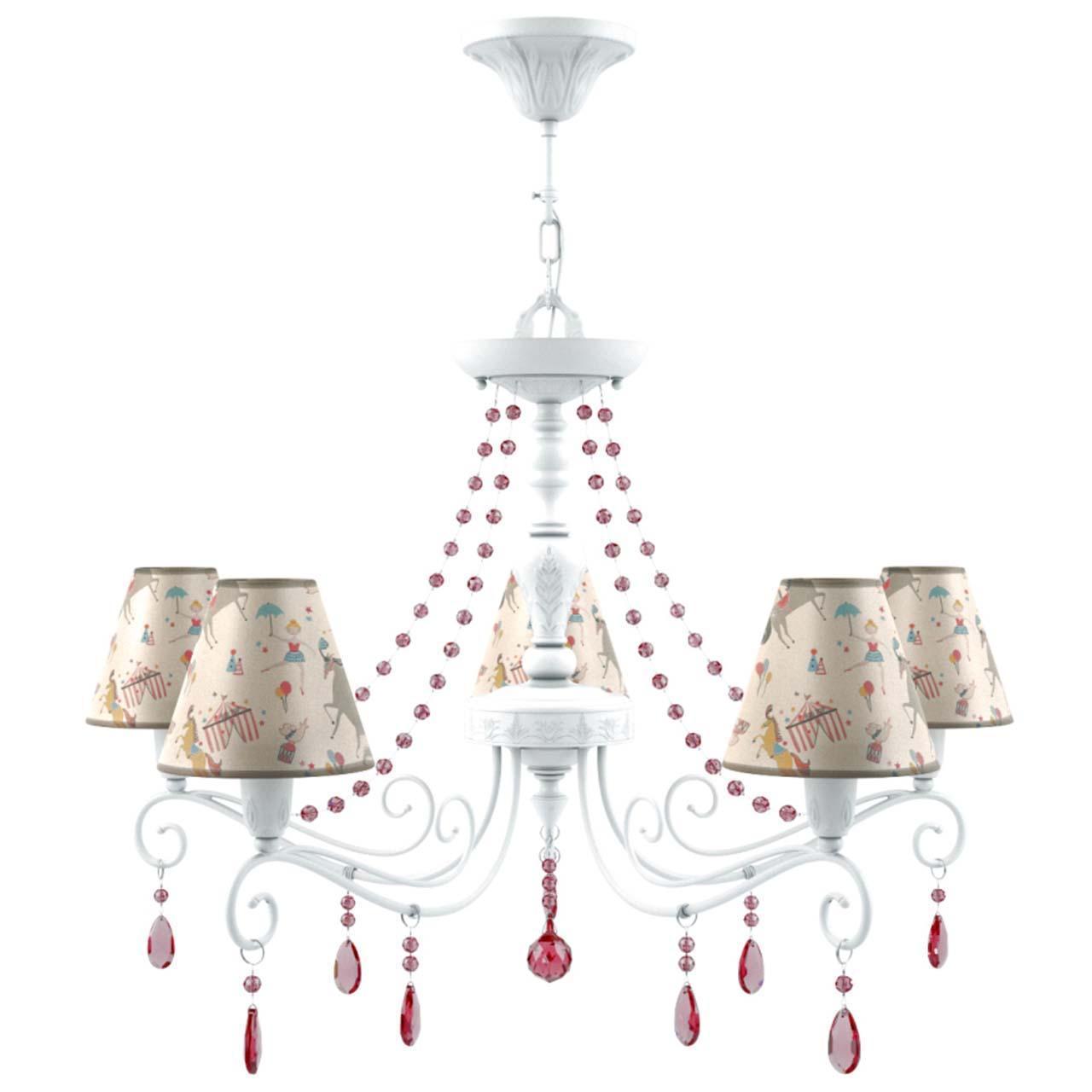Подвесная люстра Lamp4you Provence E4-05-WM-LMP-O-14-CRL-E4-05-PK-UP lamp4you подвесная люстра lamp4you provence e4 07 wm lmp o 29 crl e4 07 gr dn