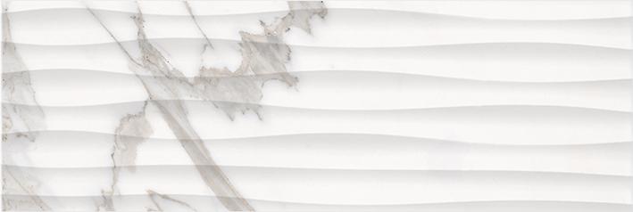 Миланезе дизайн Плитка настенная каррара волна 1064-0158 20х60 плитка настенная 19 9х60 3 миланезе дизайн крема