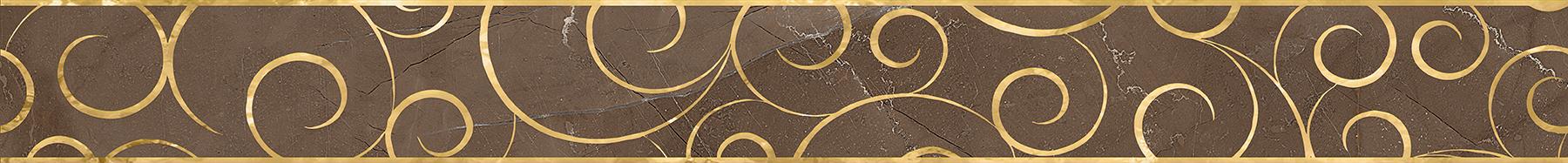 Миланезе дизайн Бордюр Флорал марроне 1506-0158 6х60 бордюр настенный 6х60 3 миланезе дизайн флорал крема