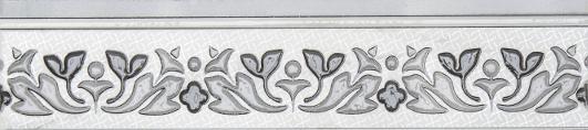 Бьянка Каррара Бордюр белый 3604-0112 10х45 бордюр navarti daino royal versalles p crema 10х45