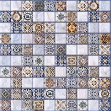 Орнелла арт-мозаика синий 5032-0200 30х30 lb ceramics орнелла 5032 0199 30x30