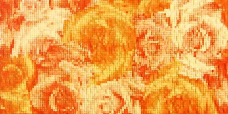 Фьюжн Декор оранжевый 1641-0022 20х40 boxpop lb 124 35
