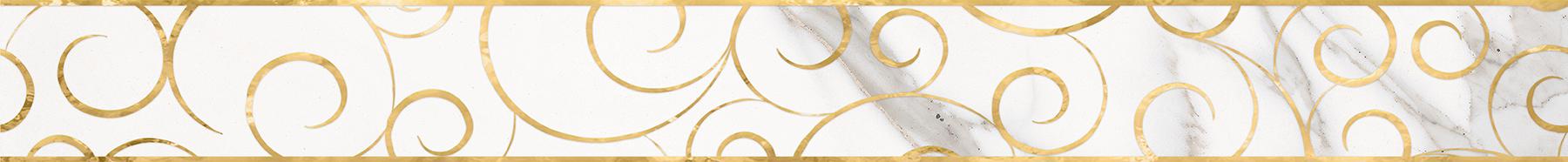 Миланезе дизайн Бордюр Флорал каррара 1506-0154 6х60 бордюр настенный 6х60 3 миланезе дизайн флорал крема