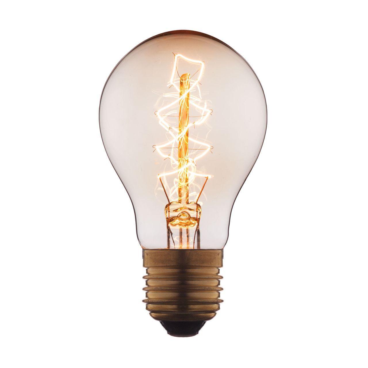Лампа накаливания E27 60W прозрачная 1004-C loft it лампа накаливания loft it груша прозрачная e27 60w 1004 c