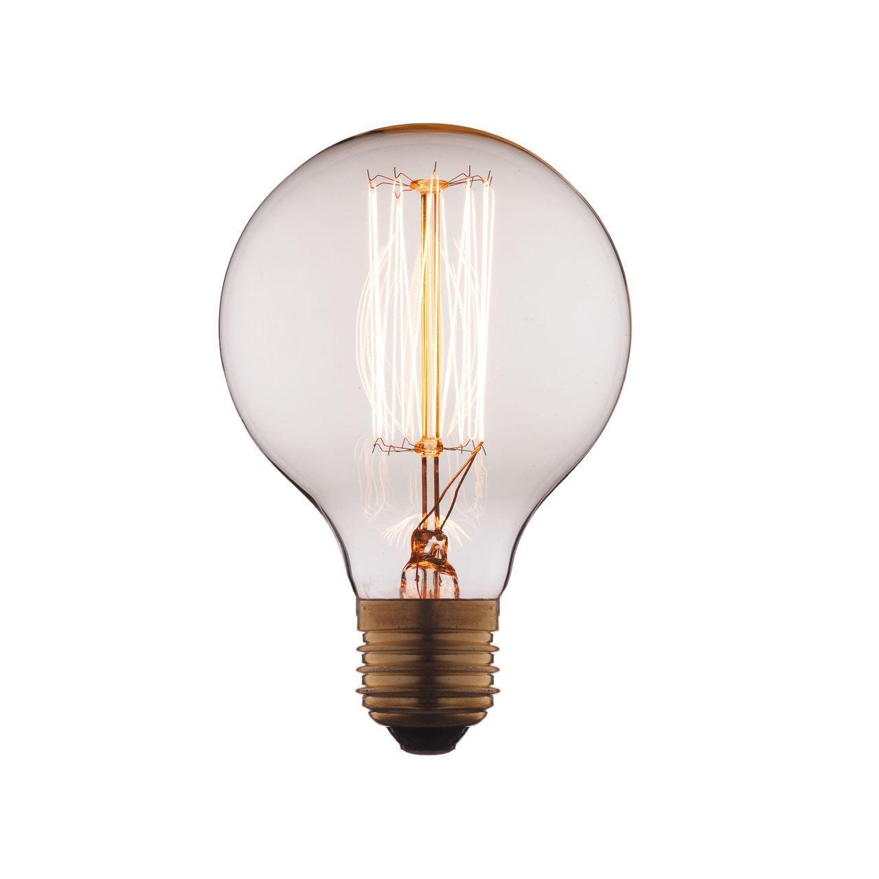Лампа накаливания E27 40W прозрачная G8040 декоративная лампа накаливания loft it g8040