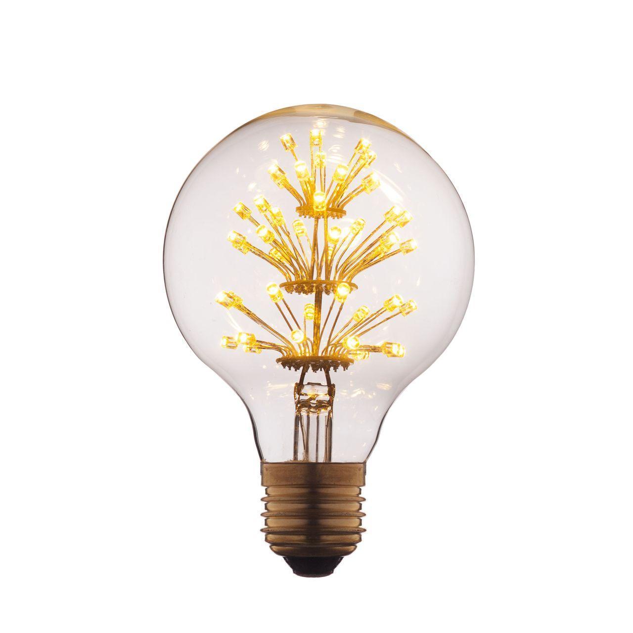 Лампа светодиодная филаментная E27 3W прозрачная G8047LED loft it лампа светодиодная loft it шар прозрачный e27 3w g8047led