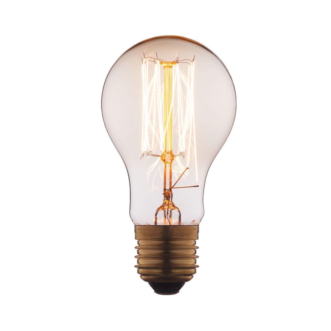 Лампа накаливания E27 60W прозрачная 1004-T loft it лампа накаливания loft it груша прозрачная e27 60w 1004 c