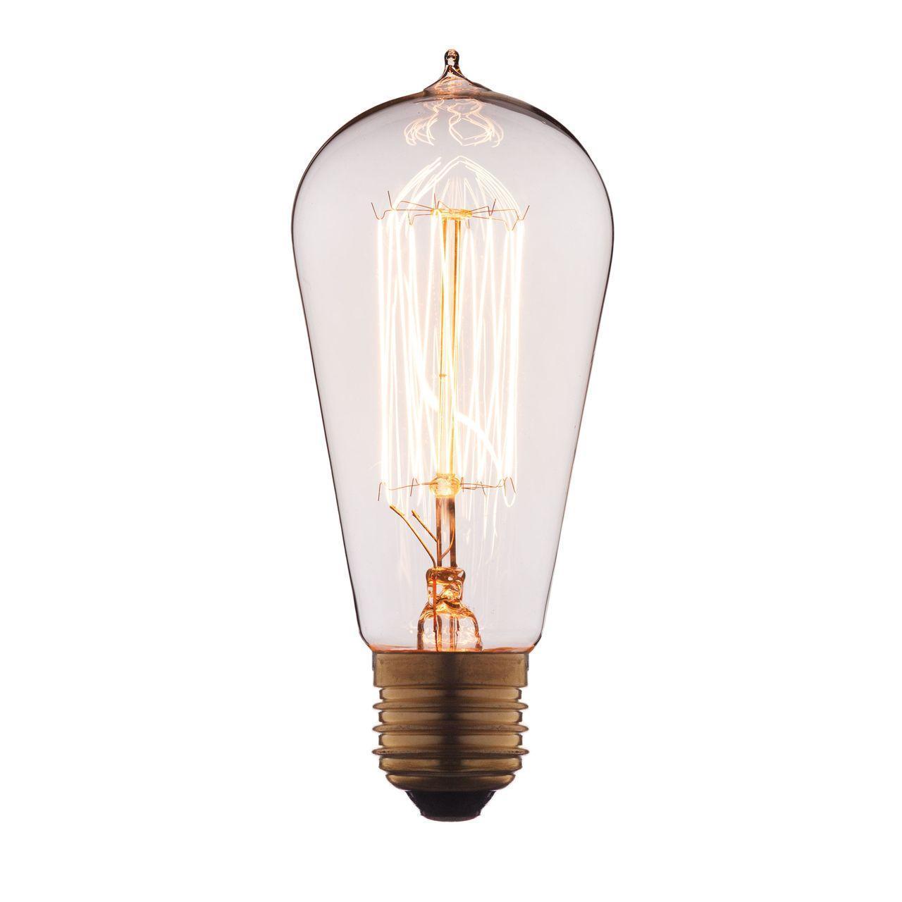 Лампа накаливания E27 60W прозрачная 6460-SC цена и фото