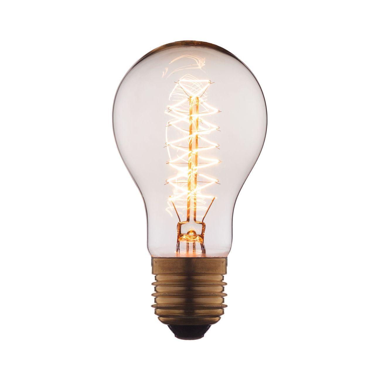 Лампа накаливания E27 60W прозрачная 1004 loft it лампа накаливания loft it груша прозрачная e27 60w 1004 c