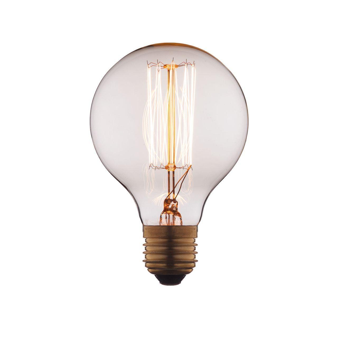 Лампа накаливания E27 60W прозрачная G8060 цена