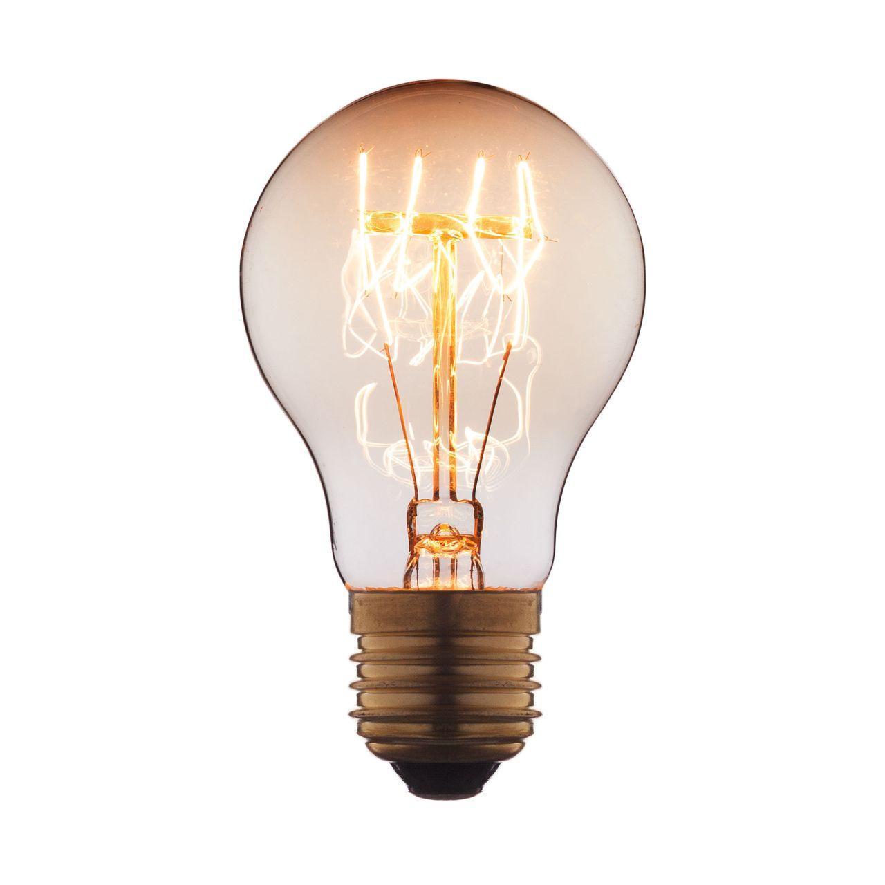 Лампа накаливания E27 40W прозрачная 7540-T loft it лампа накаливания loft it груша прозрачная e27 40w 7540 t