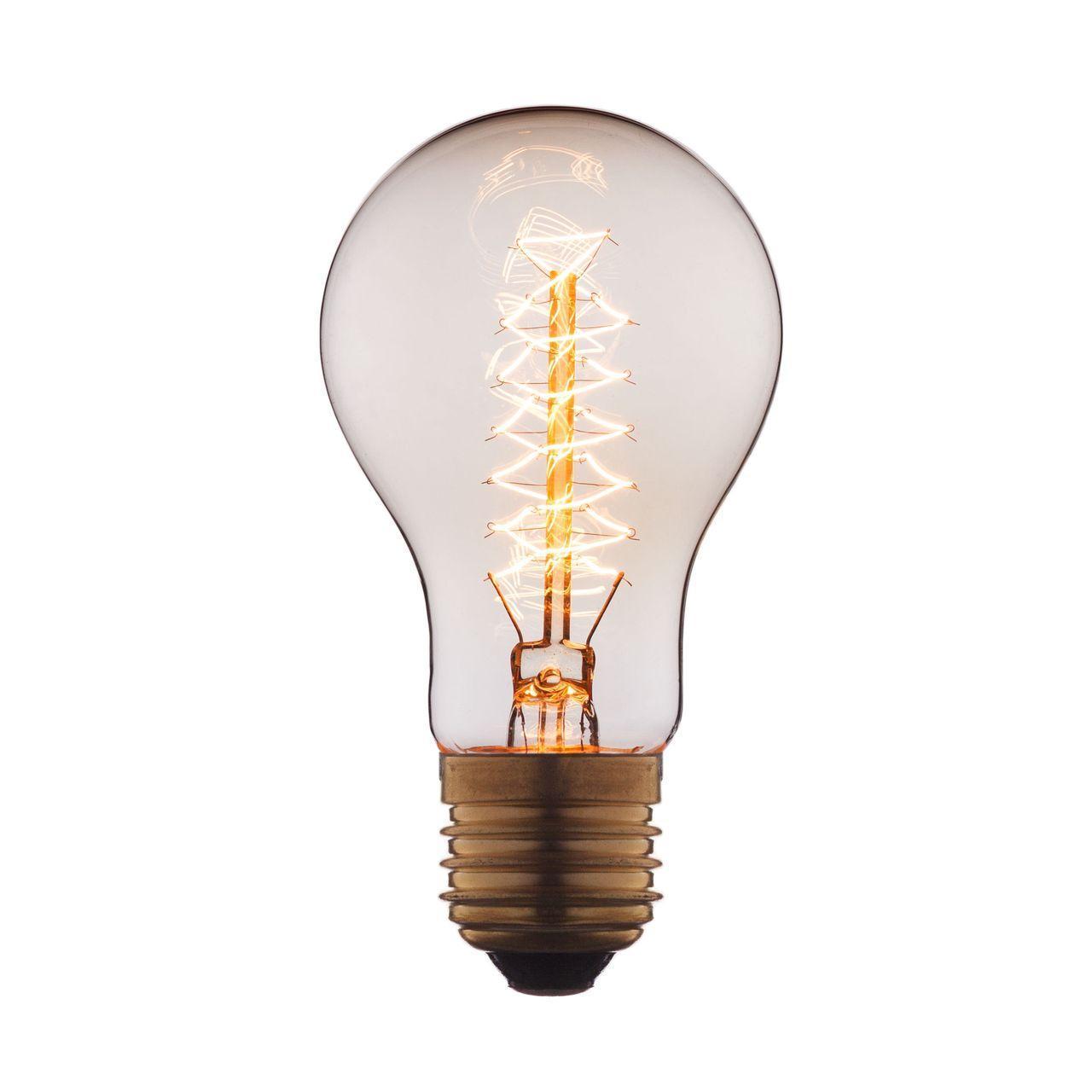 Лампа накаливания E27 40W прозрачная 1003 loft it лампа накаливания loft it трубчатая прозрачная e27 40w 30310 h