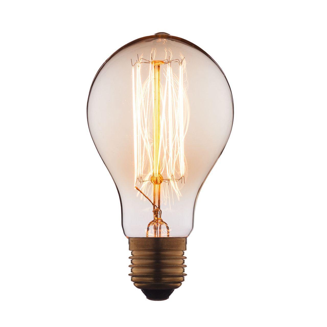 Лампа накаливания E27 40W прозрачная 7540-SC loft it лампа накаливания loft it груша прозрачная e27 40w 7540 t