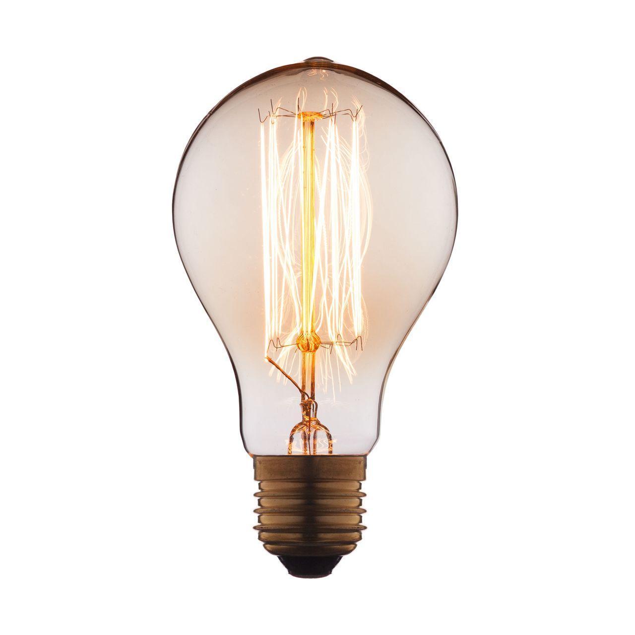 Лампа накаливания E27 60W прозрачная 7560-SC цена и фото