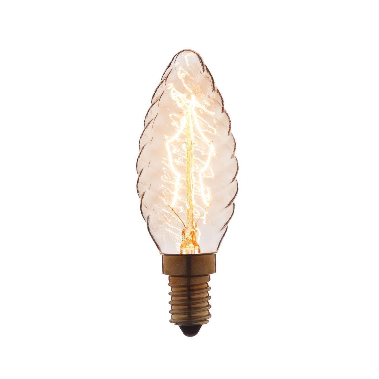 Лампа накаливания E14 40W прозрачная 3540-LT декоративная лампа накаливания loft it 3540 lt