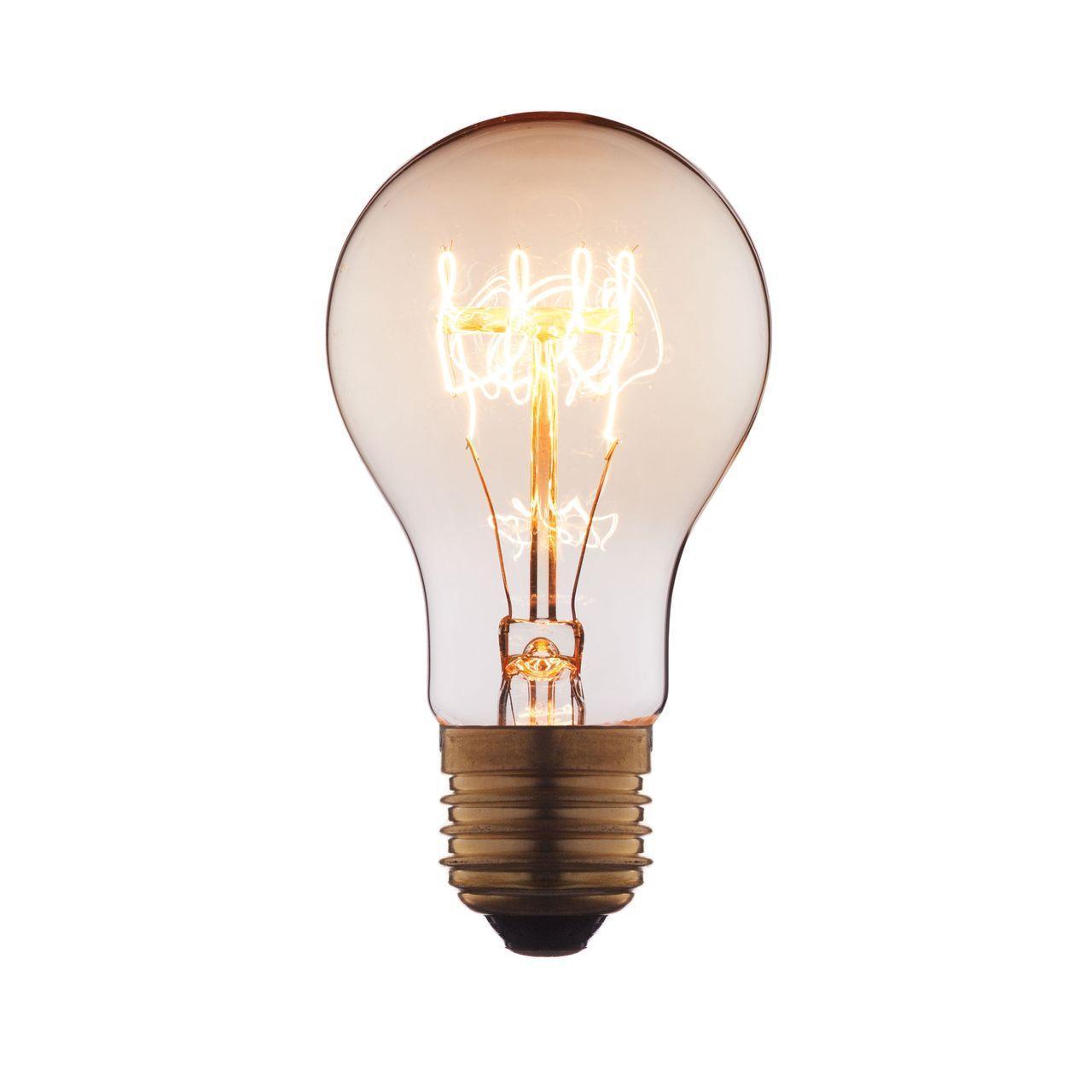 Лампа накаливания E27 60W прозрачная 1004-SC цена и фото
